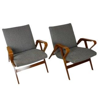 1950s Bentwood Czech Tatra Nabytok Chairs - a Pair