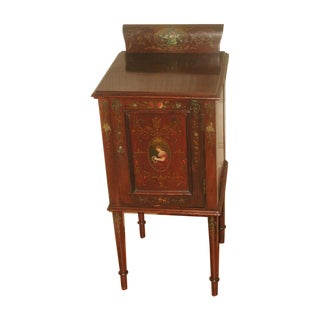 Petite Walnut Painted Chest Table C.1900
