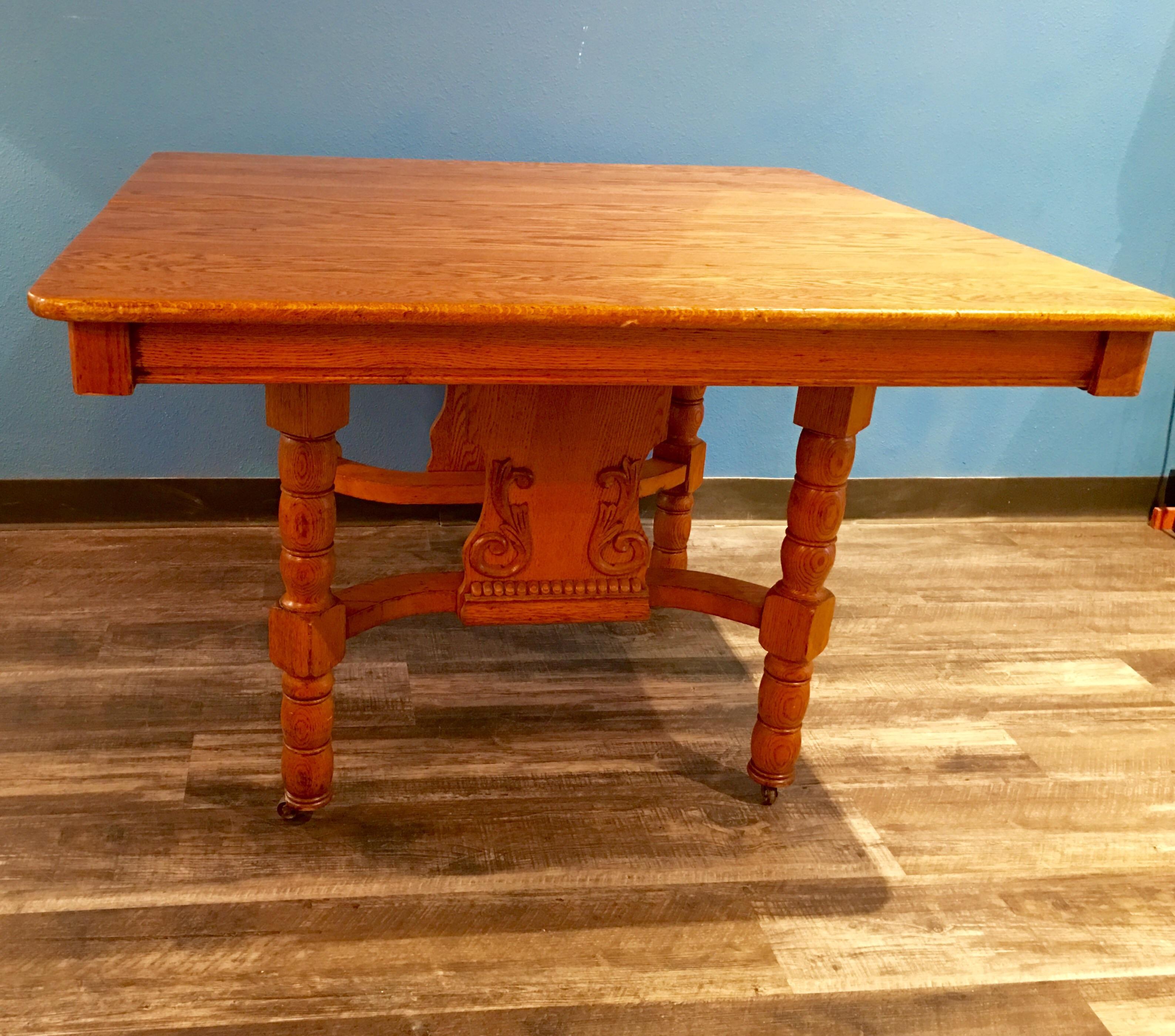 Antique Eastlake Oak Dining Table Chairish : a605b27e a706 4cdd aa45 751e67ccbd53aspectfitampwidth640ampheight640 from www.chairish.com size 640 x 640 jpeg 58kB