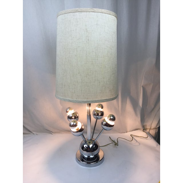 Atomic Chrome Table Lamp - Image 4 of 6
