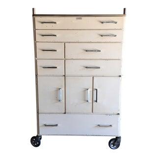 Vintage Mid-Century Medical Rolling Cabinet