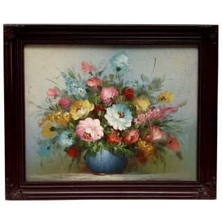Vintage Colorful Floral Oil Painting