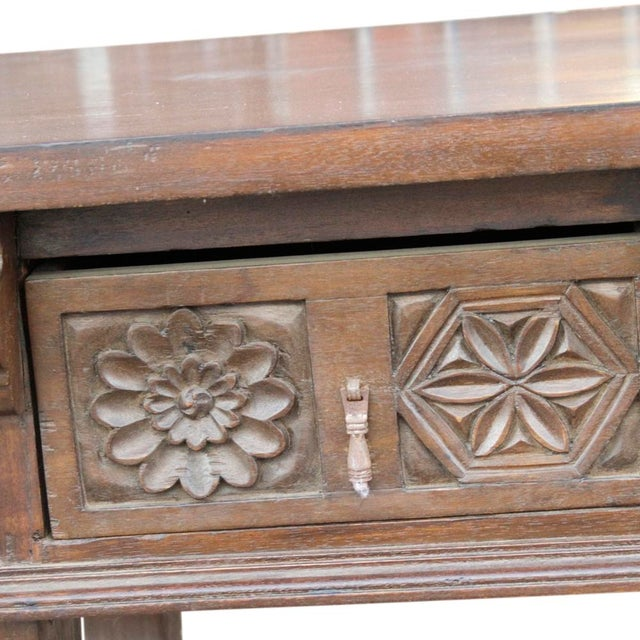 Spanish colonial style console table chairish - Console style colonial ...