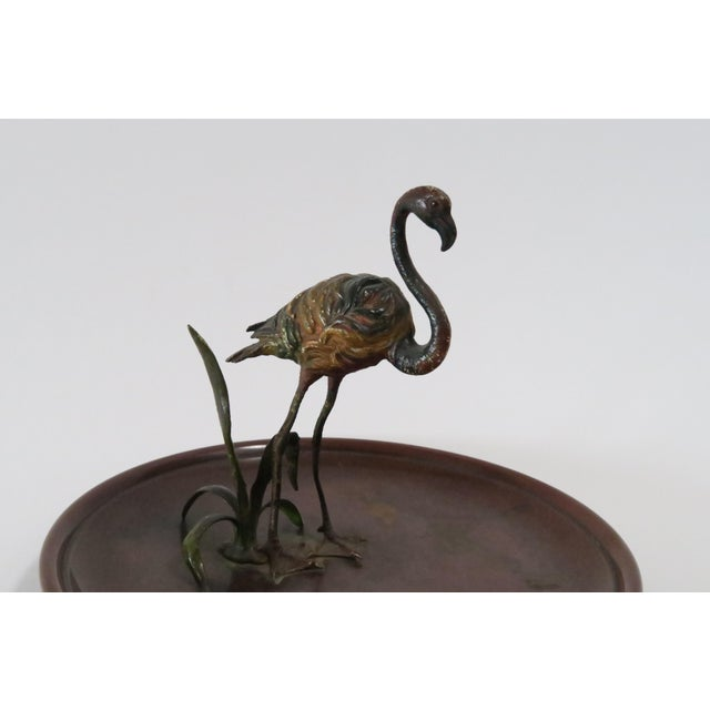 Flamingo Accented Metal Dish - Image 5 of 7