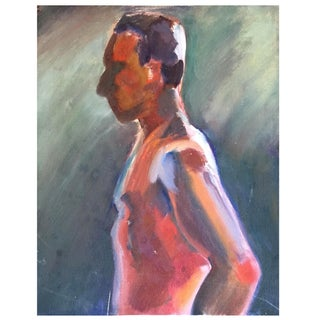 Vintage Painting of a Man Side Profile