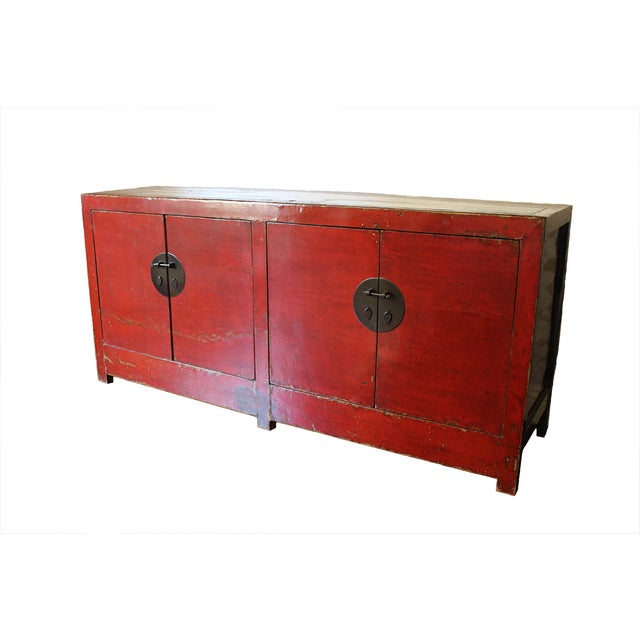 Image of Antique Lacquered Chinese Sideboard