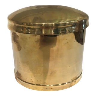 Vintage Brass Canister with Lid