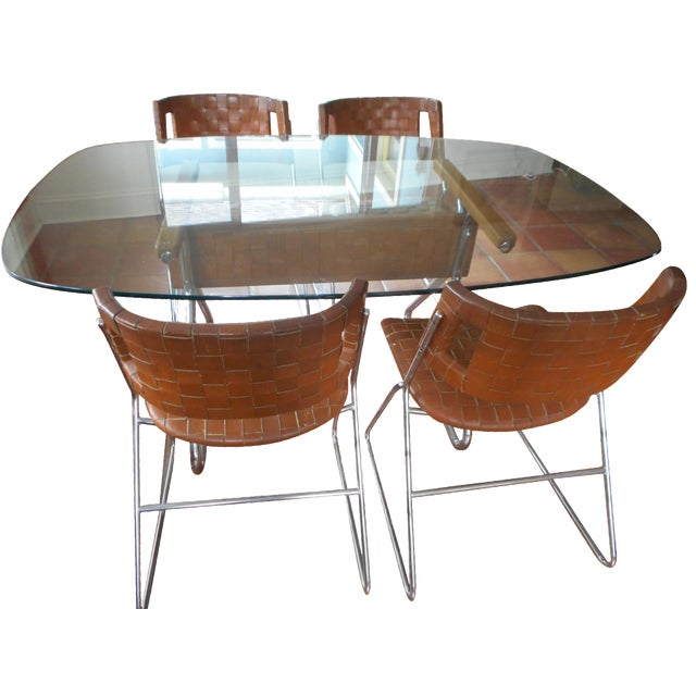 mid century dining set chairish