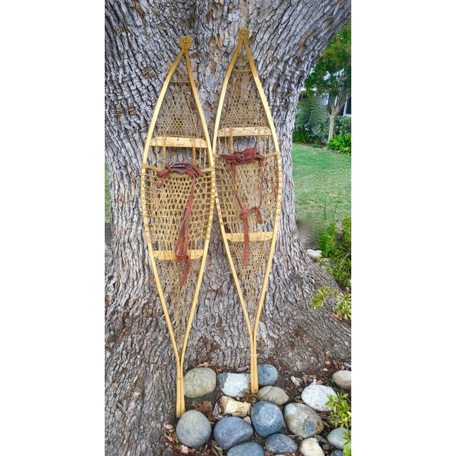 Vintage Ojibwe Snow Shoes - A Pair - Image 2 of 7