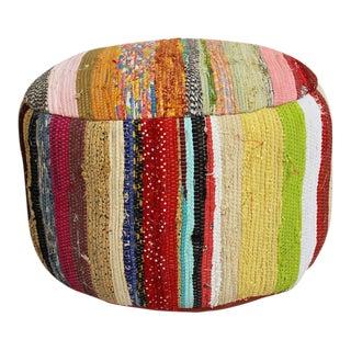 Sari Cloth Rug Stool