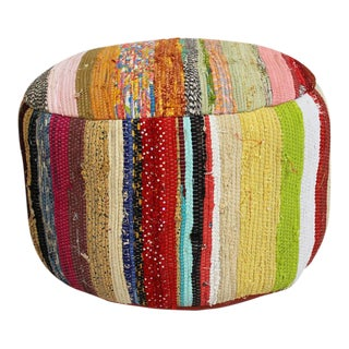 Sari Cloth Rug Stool
