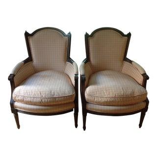 Queen Anne Accent Chairs - Pair