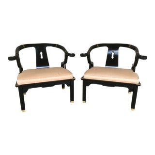 Century Chair Asian Arm Chairs - A Pair