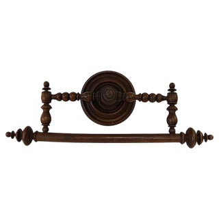 Antique French Wall Mounted Towel Rack