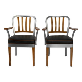 1950s Vintage Shaw Walker Mid Century Modern Chairs - a Pair