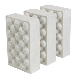 "1973 ""Three Crates"" Ceramic Sculpture By William A. Hoffman"