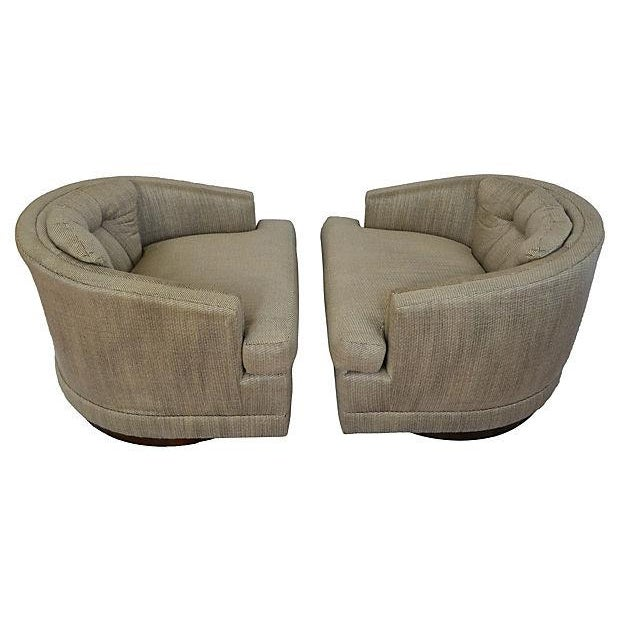 1970s Barrel Swivel Chairs - Pair - Image 2 of 7