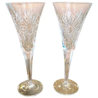 Waterford Toasting Flutes - A Pair