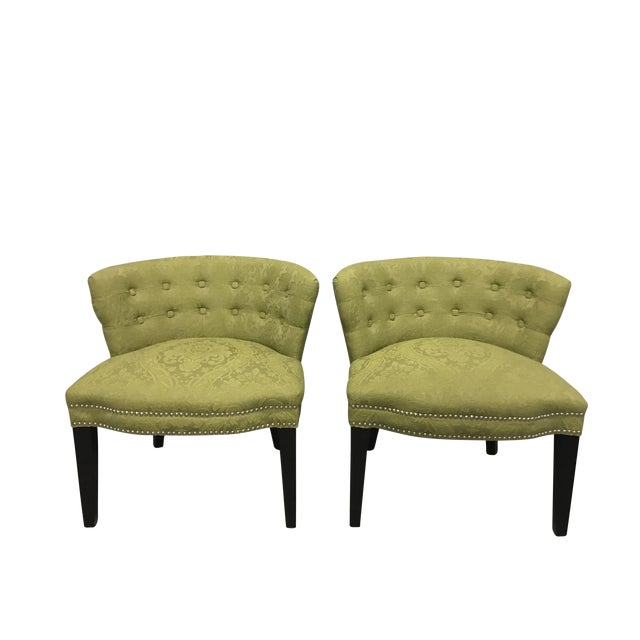 HD Buttercup Slipper Chairs - A Pair - Image 1 of 6