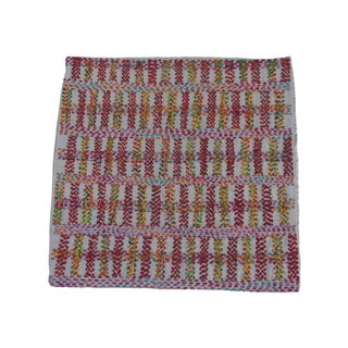 Staprans Design Embroidered Silk Pillow Sham