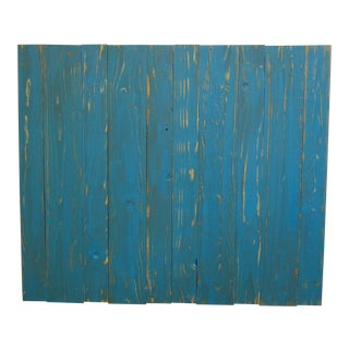 Twin Distressed Teal Barn Walls Headboard