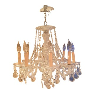 Antique Eight Light Crystal Chandelier