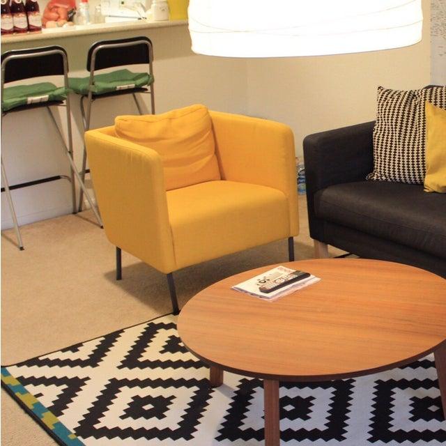 Modern Yellow Chairs - Pair - Image 3 of 3