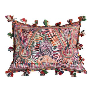Embroidered Tassel Pillow India