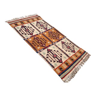 Vintage Turkish Kilim Rug - 2′7″ × 4′10″