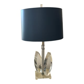 Vintage Mid-Century Sculptural Acrylic Table Lamp Attributed to Van Teal