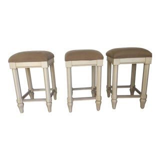 Tan Backless Bar Stools - Set of 3