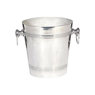 French Handled Aluminum Ice Bucket
