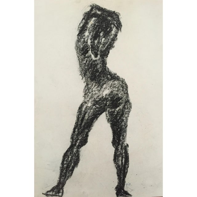 1960's Charcoal Female Silhouette Frank J. Bette - Image 1 of 5