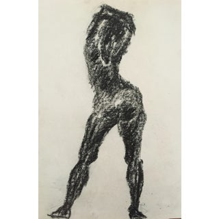1960's Charcoal Female Silhouette Frank J. Bette