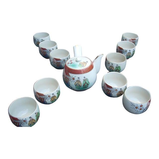 Vintage Chinoiserie Tea Seat - Set of 11 - Image 1 of 6