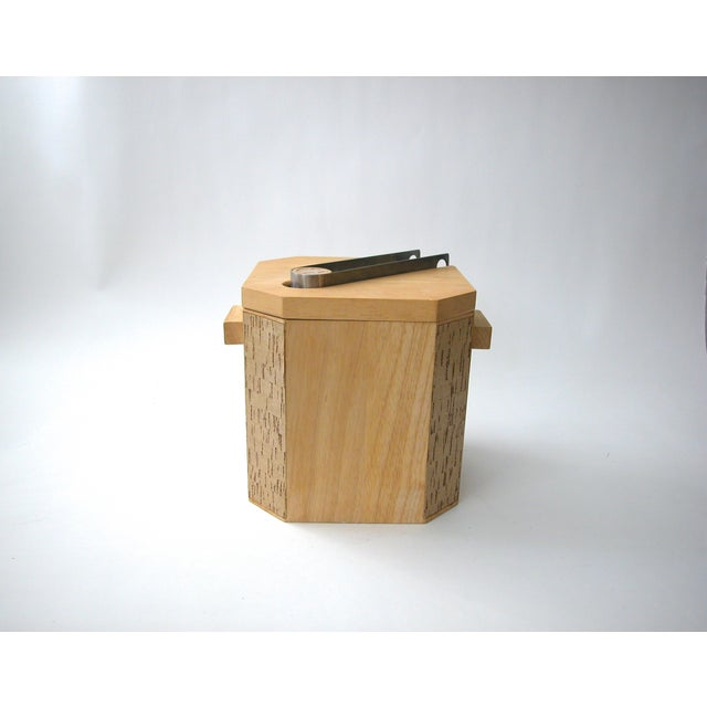 Georges Briard Wood & Cork Ice Bucket - Image 9 of 9