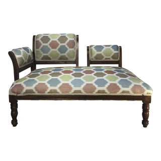 Antique Upholstered Settee