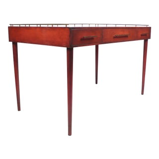 Unique Three-Drawer Writing Desk by Imperial