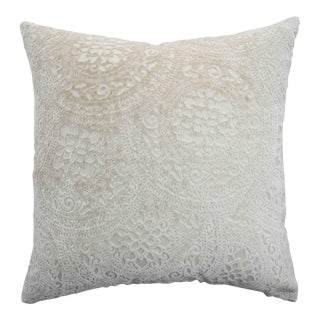 Italian Cream Lace Velvet Pillow