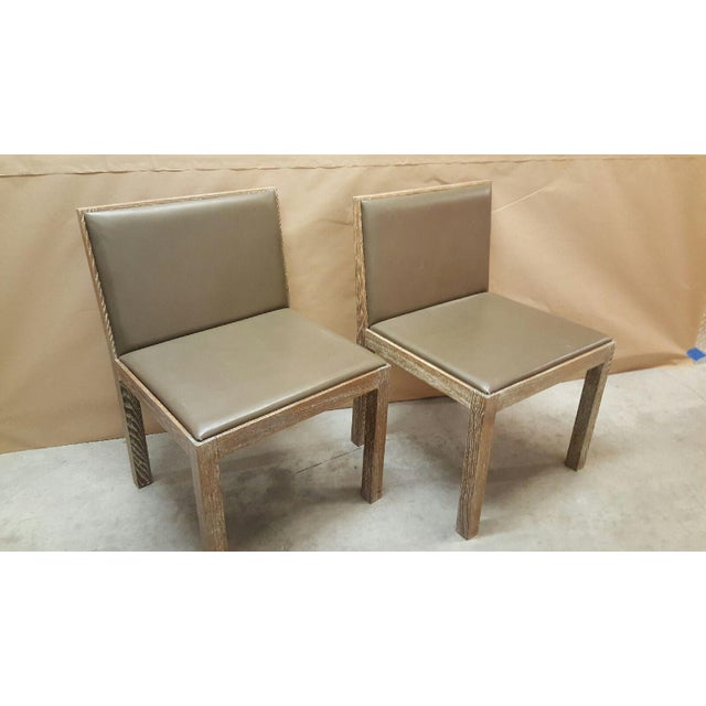 Image of Jean Michel Frank Style Side Chairs- Set of 4
