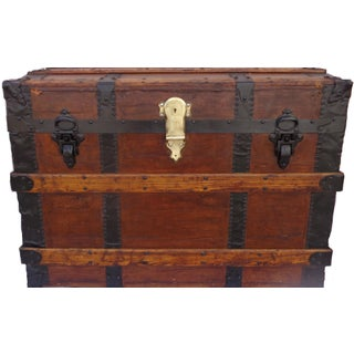 Antique Haines & Co. Box Trunk