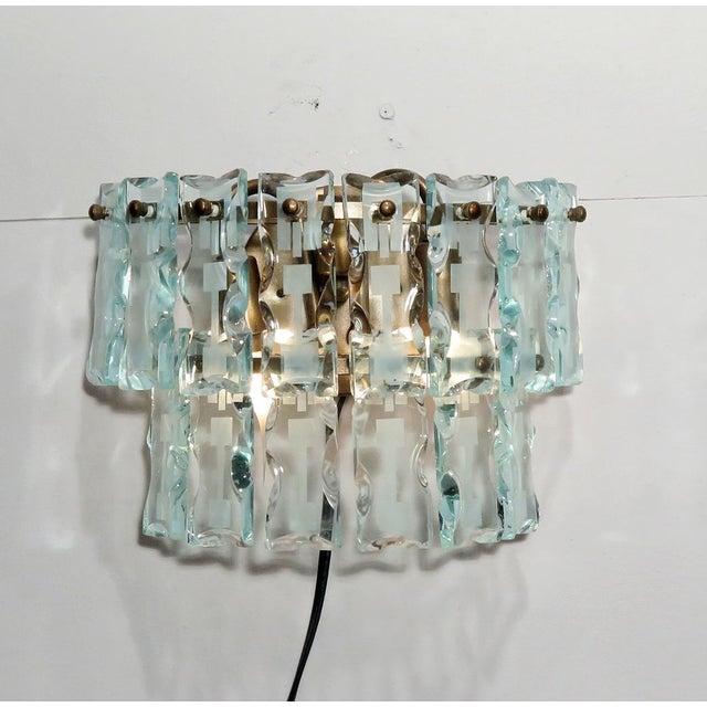 Mid-Century 3 Light Sconces - A Pair - Image 3 of 9