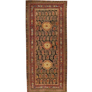 Antique 19th Century Caucasian Baku Khilla Rug