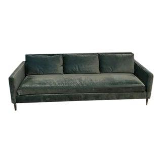 Abc Home Custom Aqua Velvet Cobble Hill Soho Sofa