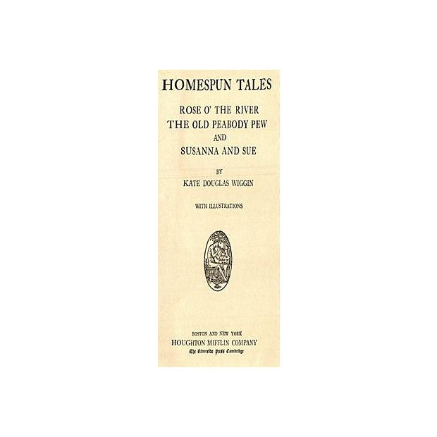 Image of Homespun Tales Book by Kate D. Wiggin
