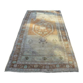 Antique Turkish Tribal Wool Rug - 4′5″ × 8′2″