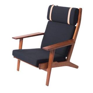 Hans Wegner for GETAMA High-Backed Teak Lounge Chair
