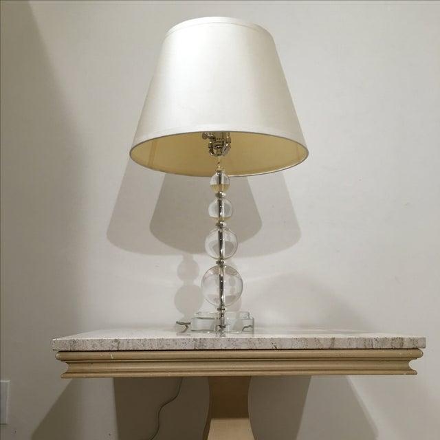 Restoration Hardware Crystal Ball Lamp - Image 5 of 6