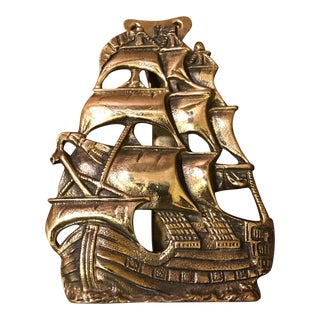 English Solid Brass Ship Door Knocker