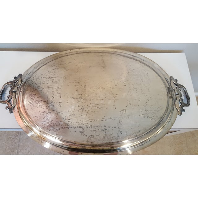 1867 Silver Plated Serving Tray With Engraving - Image 3 of 8